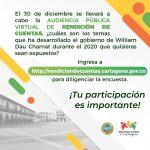 Gobierno de Cartagena entrega balance de su gestión en el 2020, el próximo 30 de diciembre