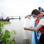 Siembra de alevinos en cuerpos de agua del departamento continuó en María La Baja-Bolívar